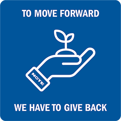 To move forward we have to give back
